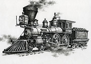 Ink Drawing Paintings - Classic Steam by James Williamson