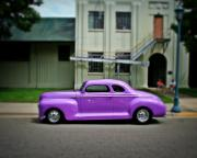 Purple Ford Photos - Classic street  by Perry Webster