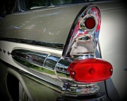 Car Detail Prints - Classic Tail Print by Perry Webster