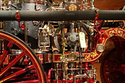 Old Cars Art - Classic Vintage Fire Engine . 7D13130 by Wingsdomain Art and Photography