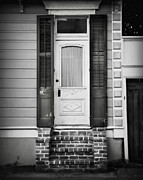 French Door Prints - Classic White Door 2 Print by Perry Webster