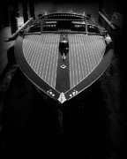 Boat Cruise Prints - Classic Wooden Boat 2 Print by Perry Webster