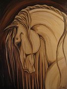 Windblown Paintings - Classical Andalusian Horse II by Leni Tarleton