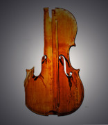 Cello Art - Classical Blues Print of a Broken Cello by Steven  Digman