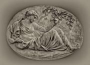 Classical Greek Woman Fresco Print by Bill Cannon