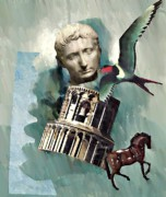 Greece Mixed Media Posters - Classical   Poster by Sarah Loft