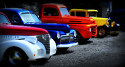 Blue Chevy Prints - Classics Print by Perry Webster