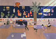 Education Painting Prints - Classroom Print by Andrew Macara