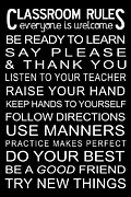 Sign Digital Art - Classroom Rules Poster by Jaime Friedman