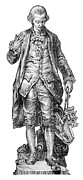Statue Portrait Prints - Claude De Jouffroy, French Engineer Print by
