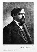 Celebrated Photos - Claude Debussy, French Composer by Photo Researchers