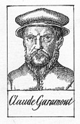Printmaker Acrylic Prints - CLAUDE GARAMOND (d.1561) Acrylic Print by Granger