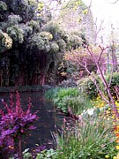 Photography Painting Originals - Claude Monet Garden Giverny France by Chitra Ramanathan