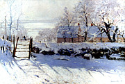 Snow Art - Claude Monet: The Magpie by Granger