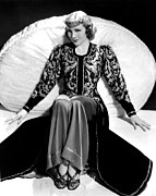 Colbw Prints - Claudette Colbert, In A Travis Banton Print by Everett