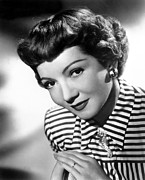 Claudette Colbert, Portrait, 1940s Print by Everett