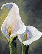 Calla Lily Paintings - Claudias Calla Lilies by Torrie Smiley