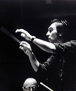 Conductor Photos - Claudio Abbado, Conducting The Boston by Everett