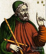 Roman Citizen Framed Prints - Claudius Ptolemy, Greek-roman Polymath Framed Print by Photo Researchers