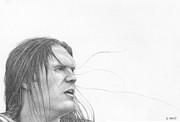 Clay Drawings Posters - Clay Matthews Poster by Rick Yanke