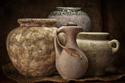 Stoneware Prints - Clay Pottery I Print by Tom Mc Nemar