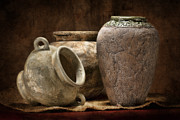 Jug Art - Clay Pottery II by Tom Mc Nemar