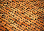 Adobe Architecture Framed Prints - Clay Roof Tiles Framed Print by David Buffington