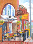 Bistro Paintings - Clayton NY-Lyric Bistro  by Robert P Hedden