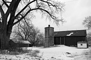 Barn And Silo Prints - Clayton St Barn Print by Joel Witmeyer