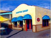 Coffee Shop Pastels Prints - Claytons Coffee Shop Print by Sandra Ortega