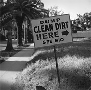 Unhygienic Prints - Clean Dirt Print by Slim Aarons