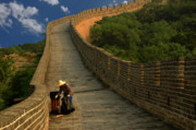 Great Wall Photos - Cleaning The Great Wall by Harry Spitz