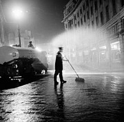 Manual Prints - Cleaning The Streets Print by Bert Hardy