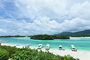 Tropical Destinations Prints - Clear Blue Lagoon, Paradise Beach, Ishigaki, Japan Print by Ippei Naoi