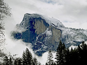 Winter Storm Framed Prints - Clearing Storm Around Half Dome Framed Print by Bill Gallagher