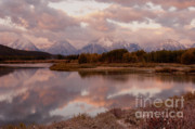 Winterscape Posters - Clearing Storm at Oxbow Bend Poster by Sandra Bronstein