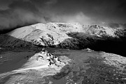 Wainwrights Posters - Clearing Storm Helvellyn Poster by Stewart Smith