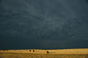 North Dakota Metal Prints - Clearing Storm In Western North Dakota Metal Print by Michael S. Lewis
