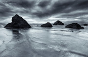 Rock Face Photo Originals - Clearing Storm by Mike  Dawson