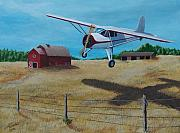 Plane Paintings - Clearing the Wire by Gene Ritchhart