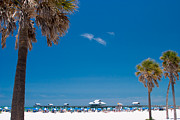 Clear Sky Prints - Clearwater Beach Print by Adam Romanowicz