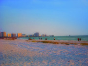 Cityscape Art - Clearwater Beach Florida by Bill Cannon