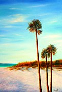 Gabriela Valencia Acrylic Prints - Clearwater Beach Acrylic Print by Gabriela Valencia