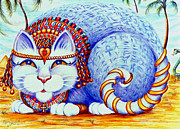 Jewels Drawings Framed Prints - Cleocatra Framed Print by Dee Davis