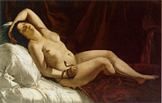 Nile Paintings - Cleopatra by Artemisia Gentileschi