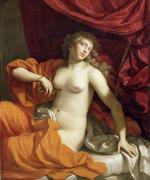 Nudes Tapestries Textiles - Cleopatra by Benedetto the Younger Gennari