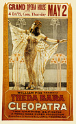 1910s Poster Art Framed Prints - Cleopatra, Theda Bara, 1917 Framed Print by Everett
