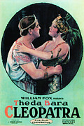 1910s Poster Art Framed Prints - Cleopatra, Thurston Hall, Theda Bara Framed Print by Everett