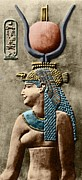 Hathor Goddess Framed Prints - Cleopatra Vii Framed Print by Sheila Terry