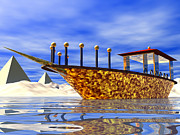 Desert Digital Art - Cleopatras Barge by Nicholas Burningham
